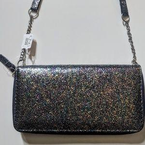 NWT Oil Slick Rainbow Colored Wallet Crossbody